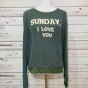 {WILDFOX} Sunday, I Love You Soft Sweater